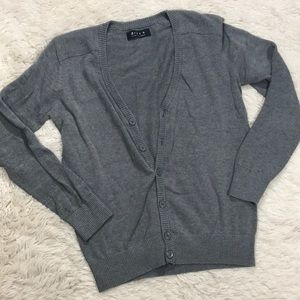 21 Men Solid Gray button down cardigan sweater